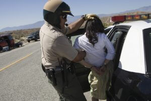 Lady being arrested in Colorado Springs for DWAI.